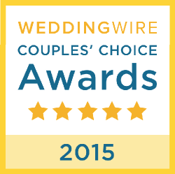 Honored to be Recognized as a 2015 Couples Choice Award Winner by WeddingWire